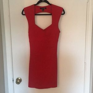 Backless Red Mini Dress